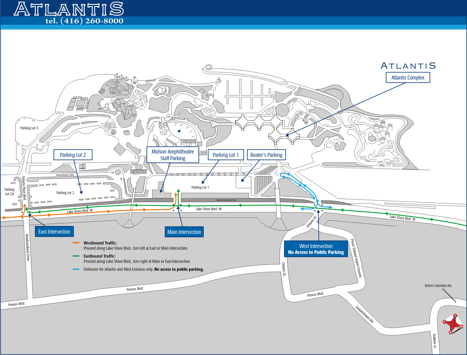 Map of Atlantis Pavlions